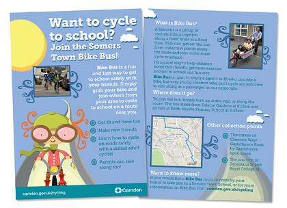 camden cycle a5 leaflet a5 leaflet promotion camden councils bike bus keywords a5 leaflet